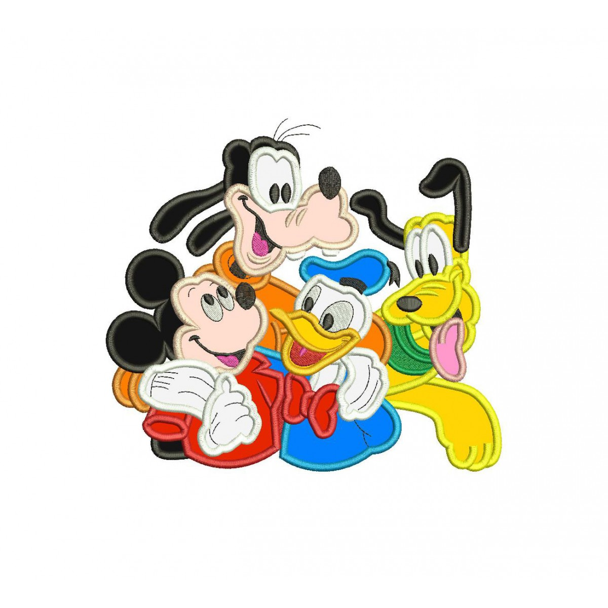 Pluto Mickey Mickey Mouse Goofy Donald And Pluto Applique Design