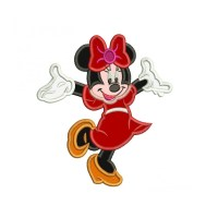 Sweet Minnie Mouse Applique Machine Embroidery Design