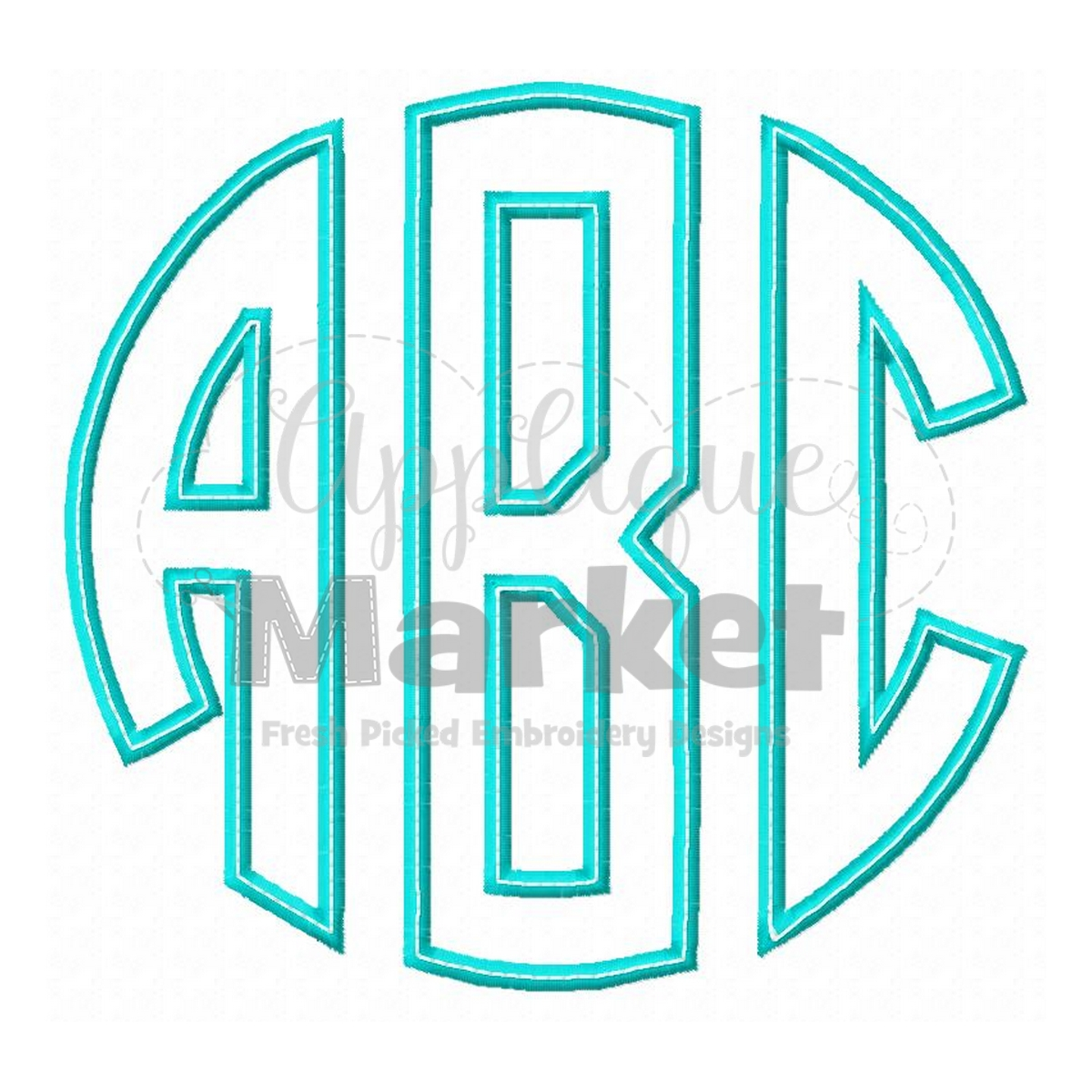 Applique Circle Monogram Applique
