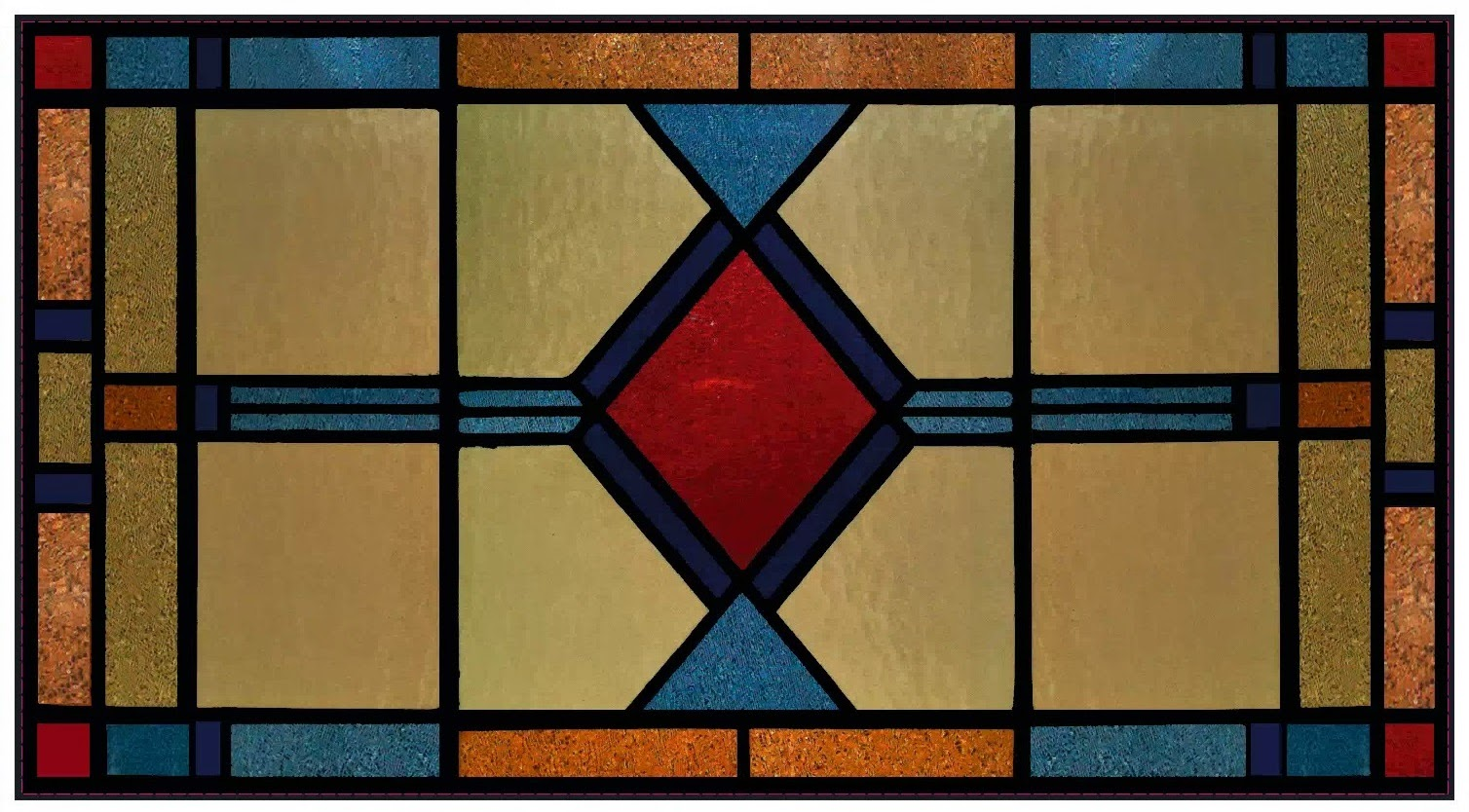 Statische Raamfolie Glas In Lood Stained Glass Window Film Applyityourself