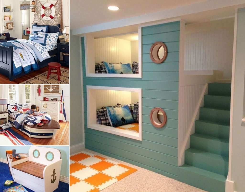 Cool Nautical Kids Bedroom Decorating Ideas Theme Master Ocean Decor Beach Adult Bedrooms Girly Style Colors Apppie Org