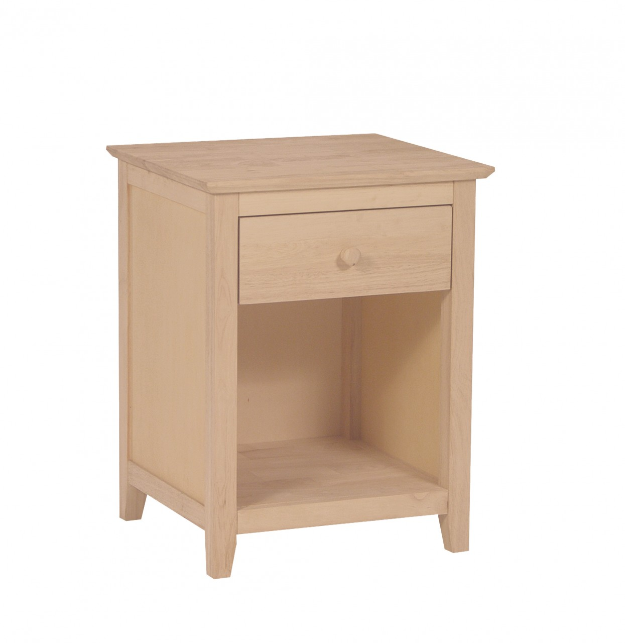 Unfinished Lancaster Drw Nightstand Bedroom Furniture Ideas Pine Oak Solid Wood Dresser Window Seat With Drawers Wooden Designs Apppie Org