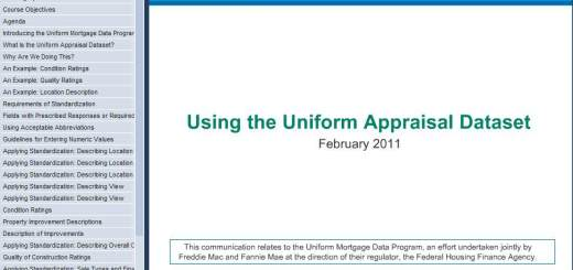 Uniform Appraisal 72