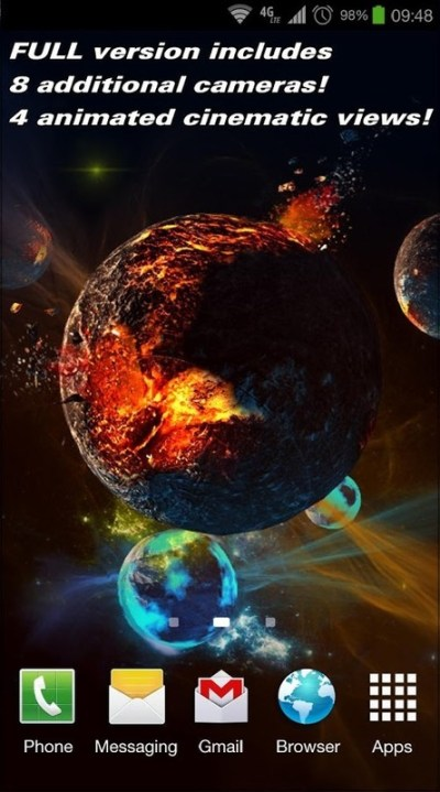 Deep Space 3D Free lwp Free Android Live Wallpaper ...