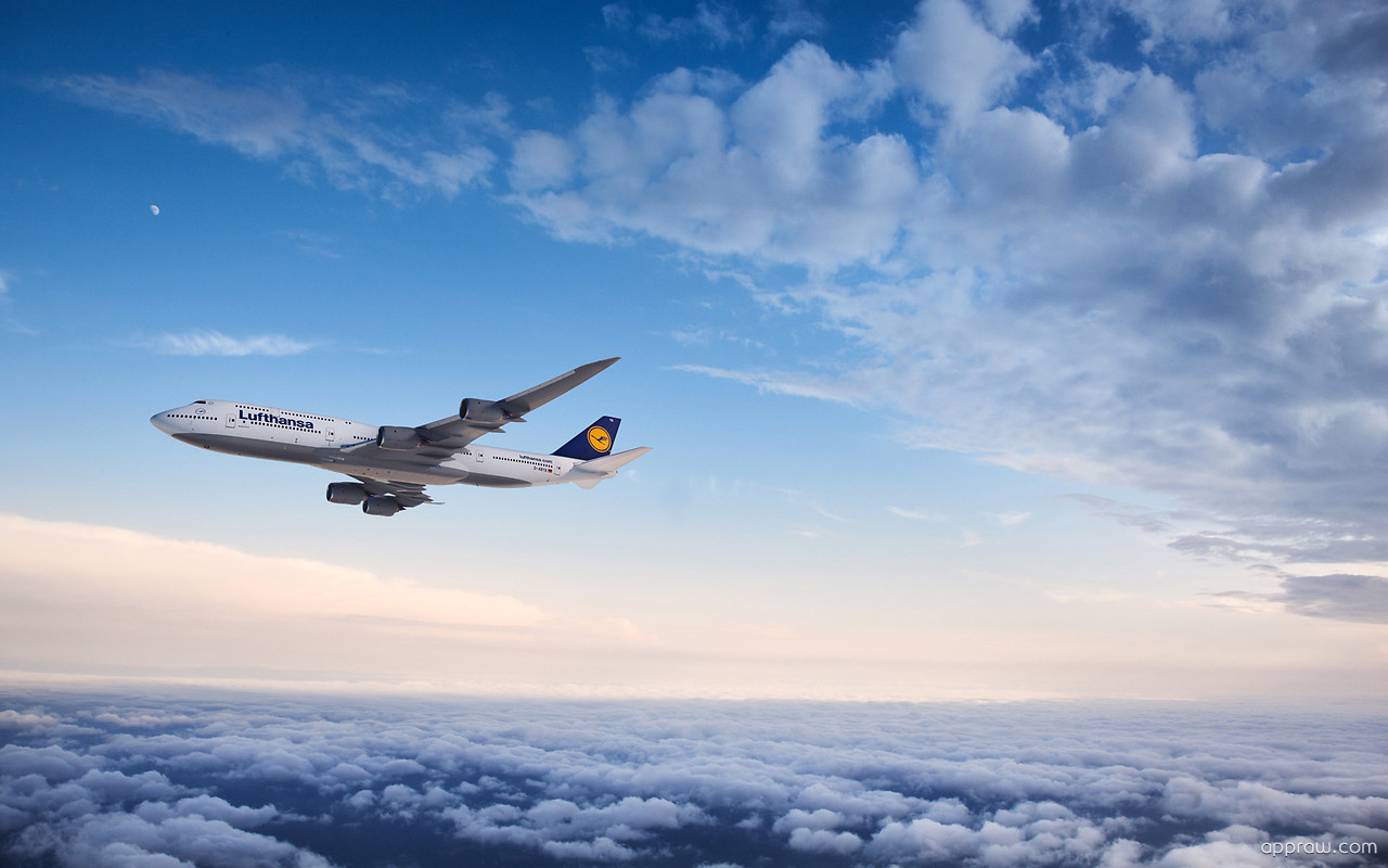 Old Wallpaper Iphone X Lufthansa Boeing 747 8 Aircraft Wallpaper Download