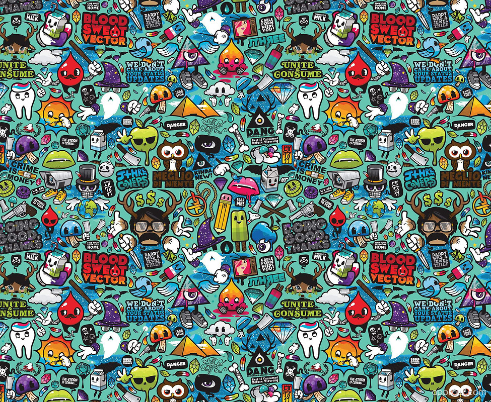 Free 3d Wallpaper Apps Doodle Collage Wallpaper Download Doodle Hd Wallpaper