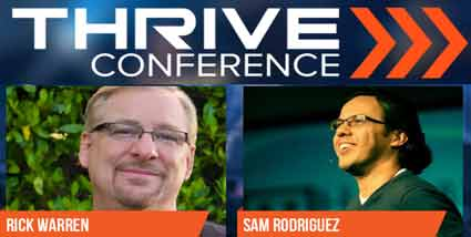 RICK WARREN AND REV. SAMUEL RODRIGUEZ TOGETHER AT THRIVE CONFERENCE