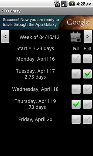 APP PTO Tracker - Android Apps  Games Android Forums - vacation tracker app