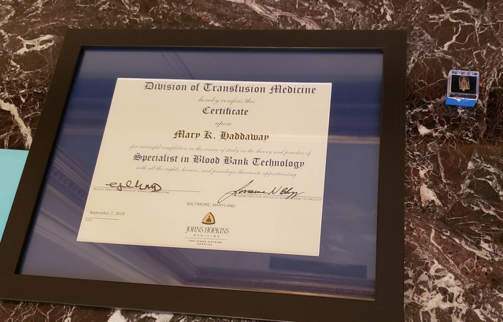 Another Great Year for the Specialist in Blood Banking Program at