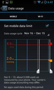 how to find mobile data usage