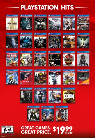 16 more PS4 games become PlayStation Hits next week