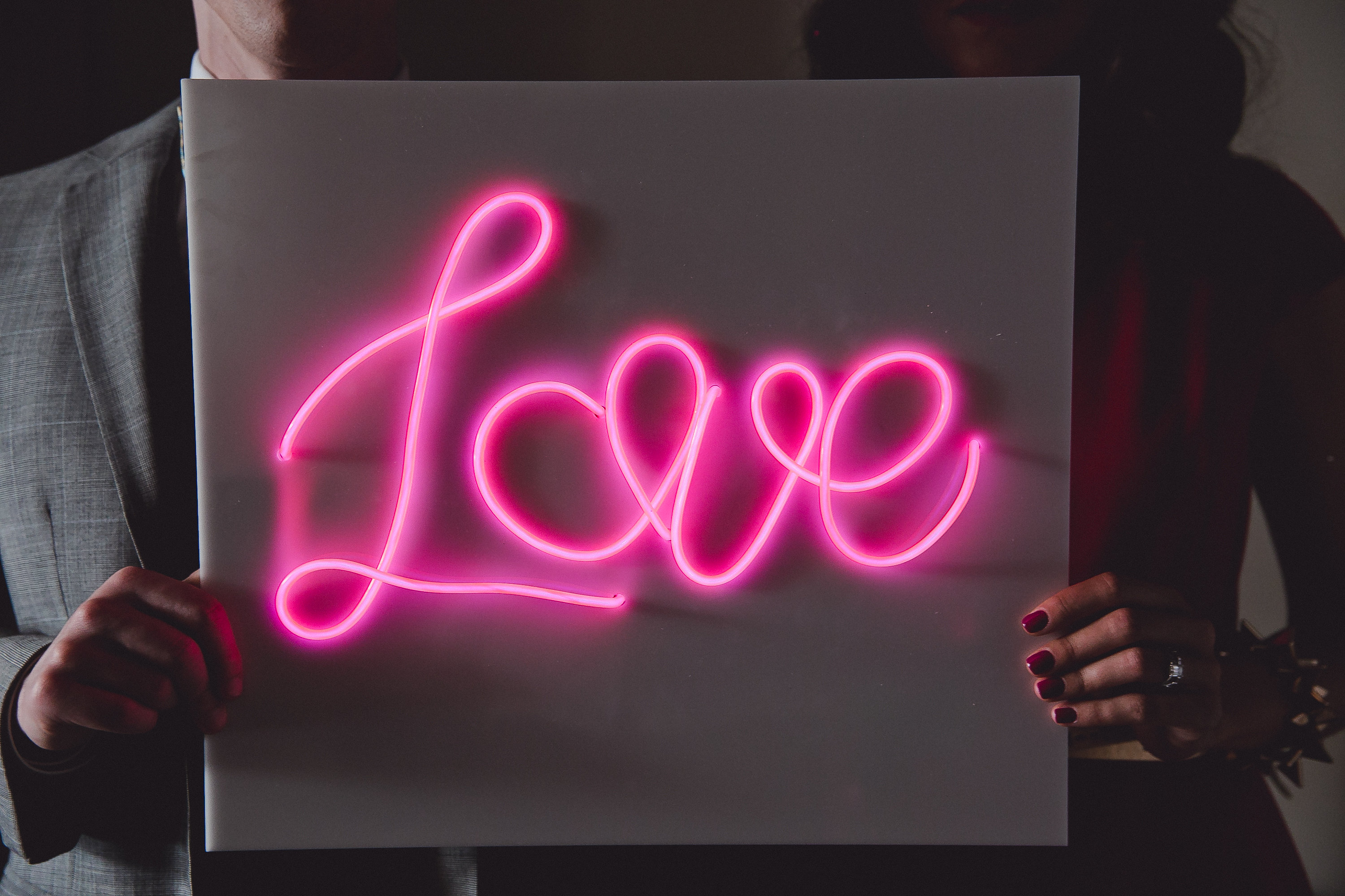 Create Your Own Quote Wallpaper Free How To Make A Diy Neon Sign With El Wire A Practical Wedding