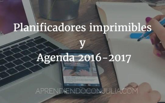 Planificadores horario imprimibles gratis y agenda de bolsillo 2016-2017