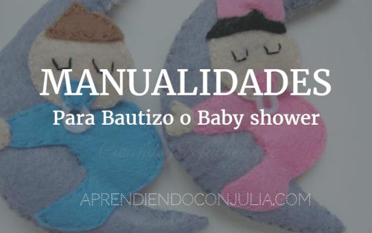 manualidades para bautizo o baby shower en fieltro y goma eva