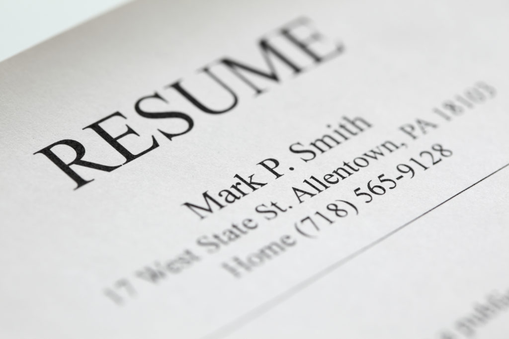Five Resume Header Tips - Après