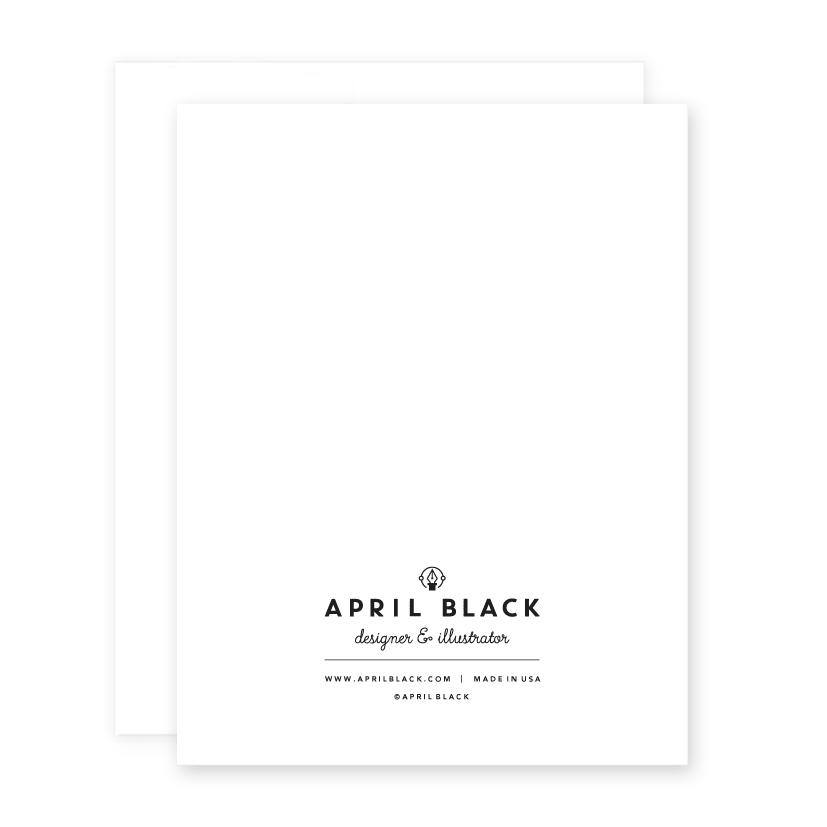 Greeting Card   Psychic April Black - greeting