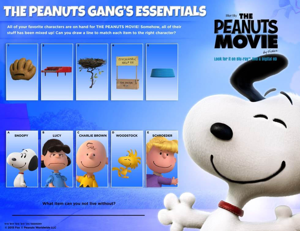 Peanuts Movie Party Plan