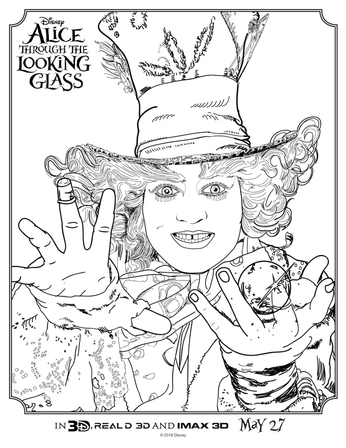 alice through the looking glass coloring sheets april golightly