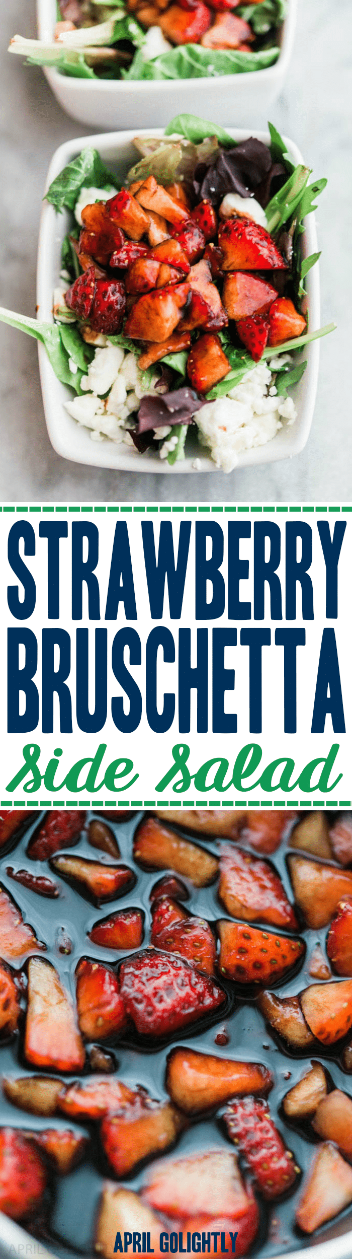 Strawberry Bruschetta Side Salad Recipe perfect healthy side salad and dish for any dinner this season #SundaySupper #FLStrawberry
