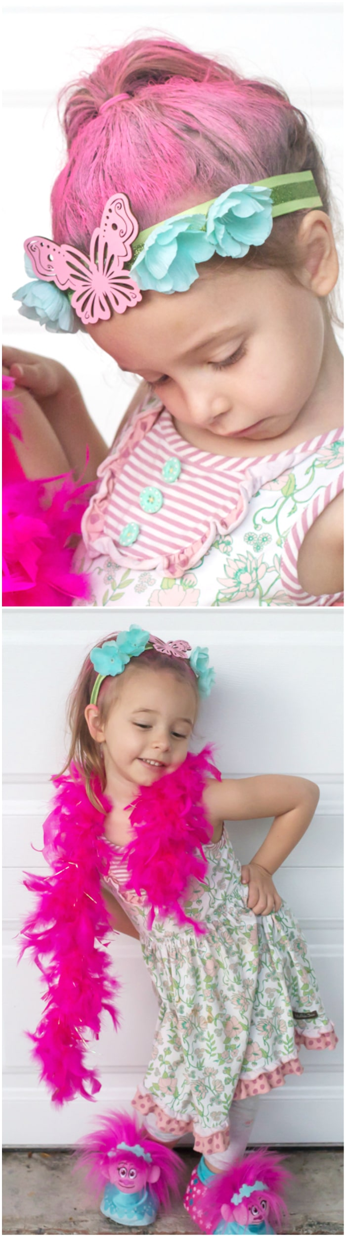 DreamWorks Trolls Party Edition - Princess Poppy Inspired DIY Headbands with Party Plan and recipes