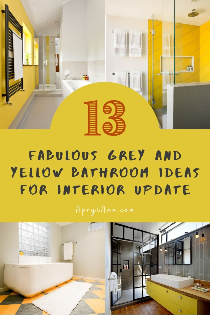 13 Fabulous Grey And Yellow Bathroom Ideas For Interior Update Aprylann