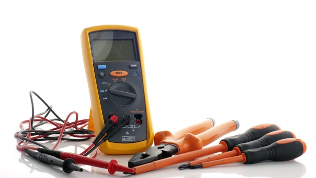 Electrician Baldivis - an impedance mutimeter complete with probe and a electrical insulated plier and three insulated screwdriver completed with philips and flat types.