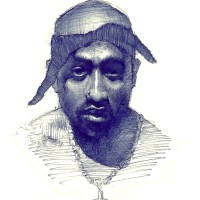 2Pac in Blue Bic