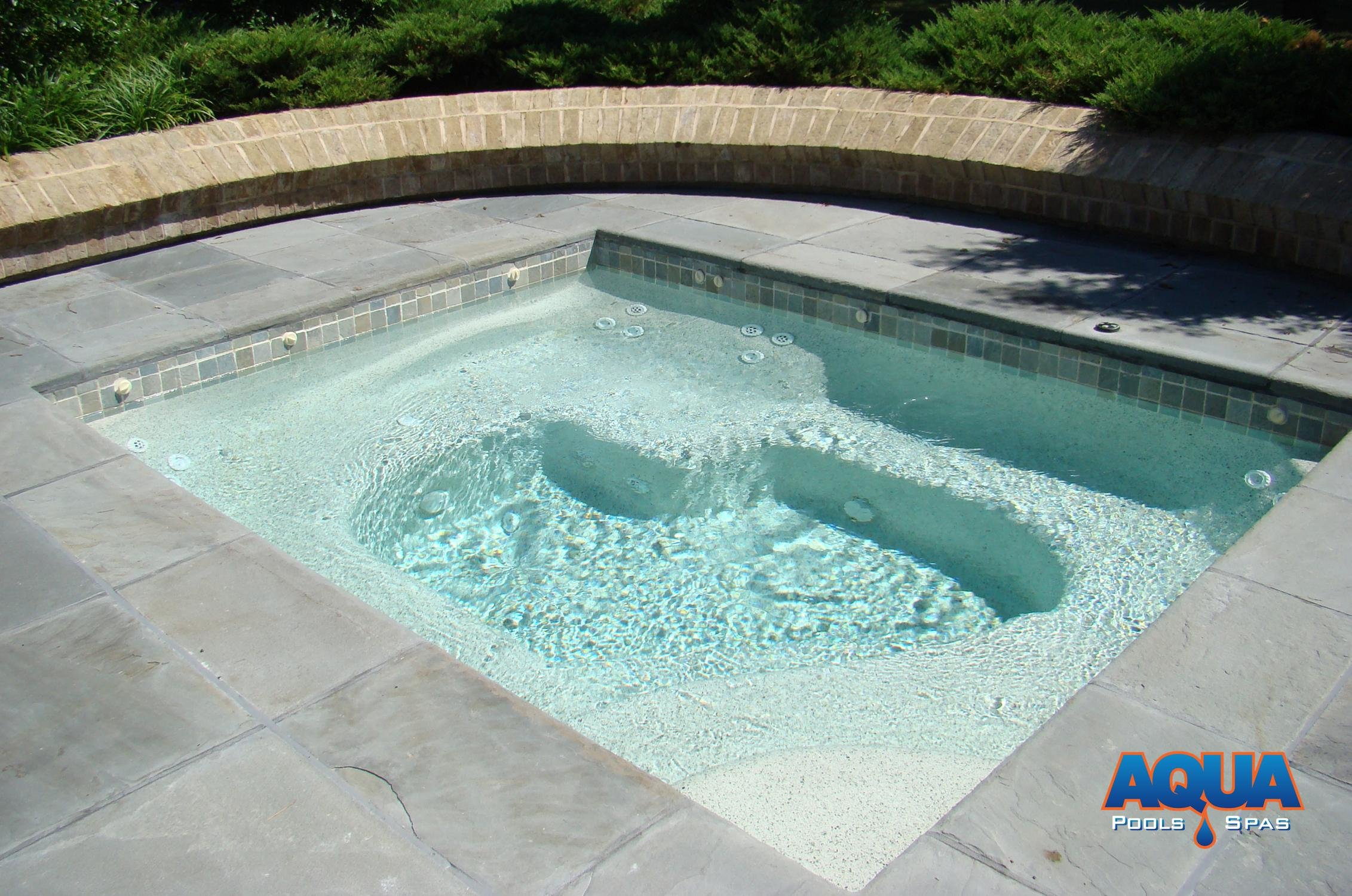 Jacuzzi Pool De Custom Spas Custom Gunite Hot Tubs Aqua Pools Spas Easton Maryland