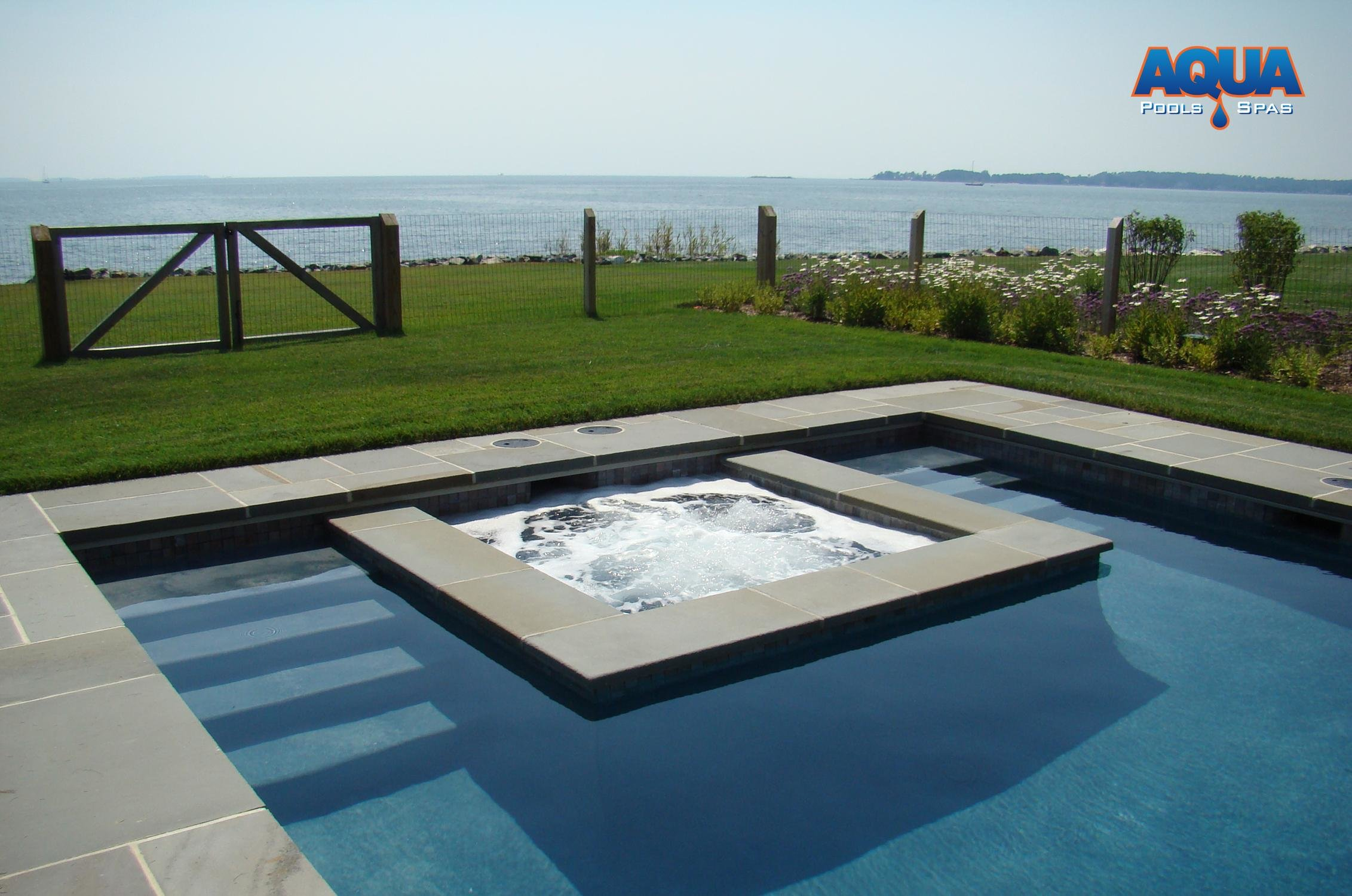 Jacuzzi Pool Dimensions Custom Spas Custom Gunite Hot Tubs Aqua Pools Spas Easton Maryland