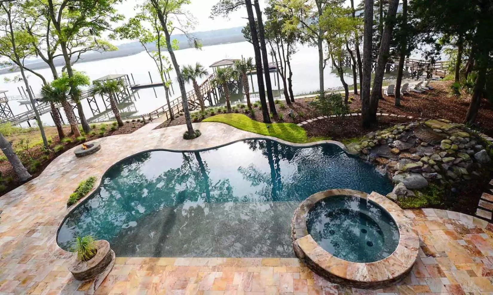 Jacuzzi Pool In Ground South Carolina S Premier Custom Pool Builder Aqua Blue Pools