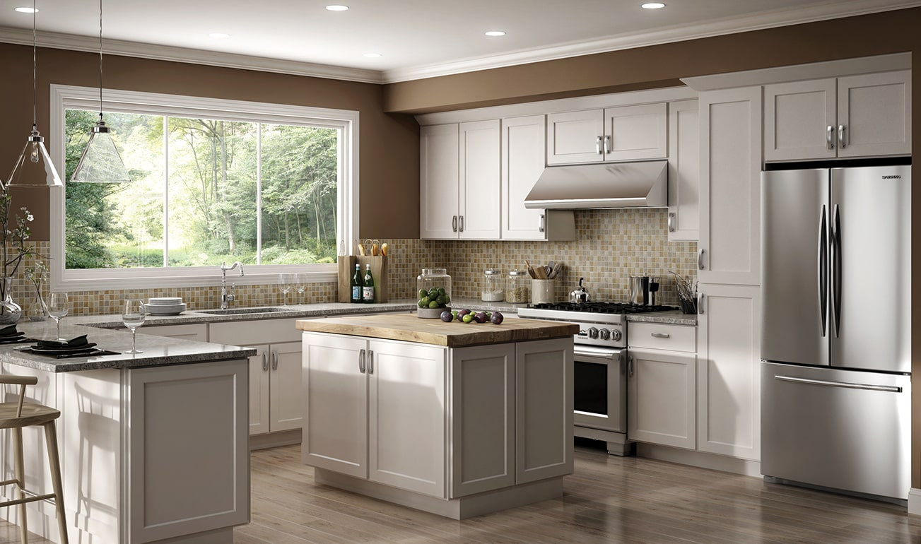 Cnc Country Luxor White Kitchen Cabinets Upscale Design Low Price