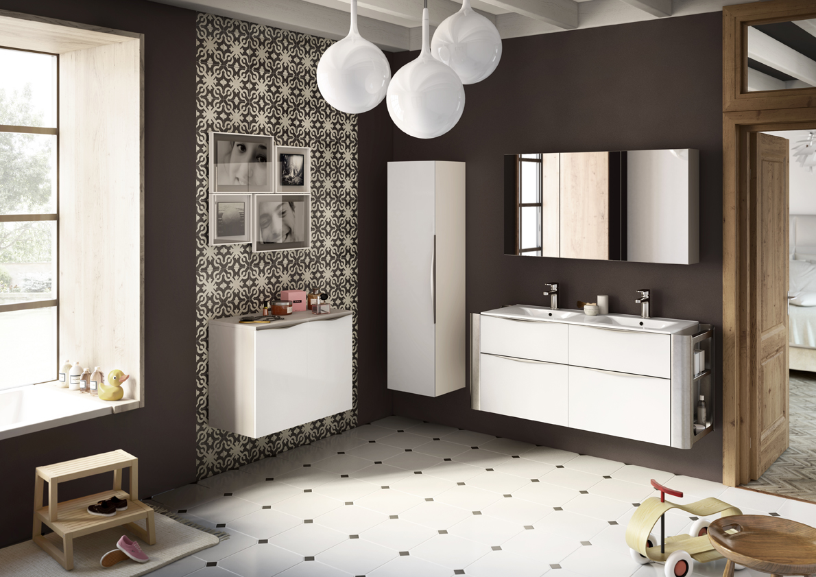 Carrelage Marron Chocolat | Salle De Bain Beige Et Taupe Simple ...