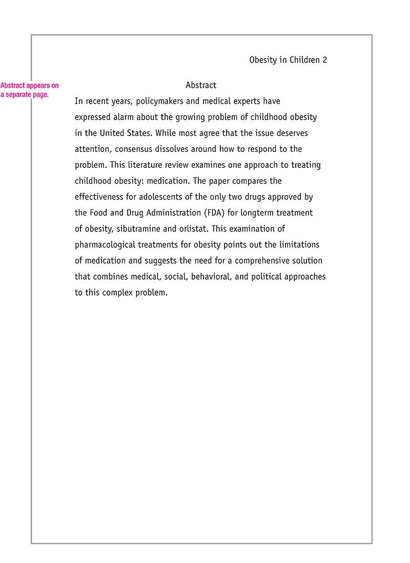 Apa Sample Essay 2012
