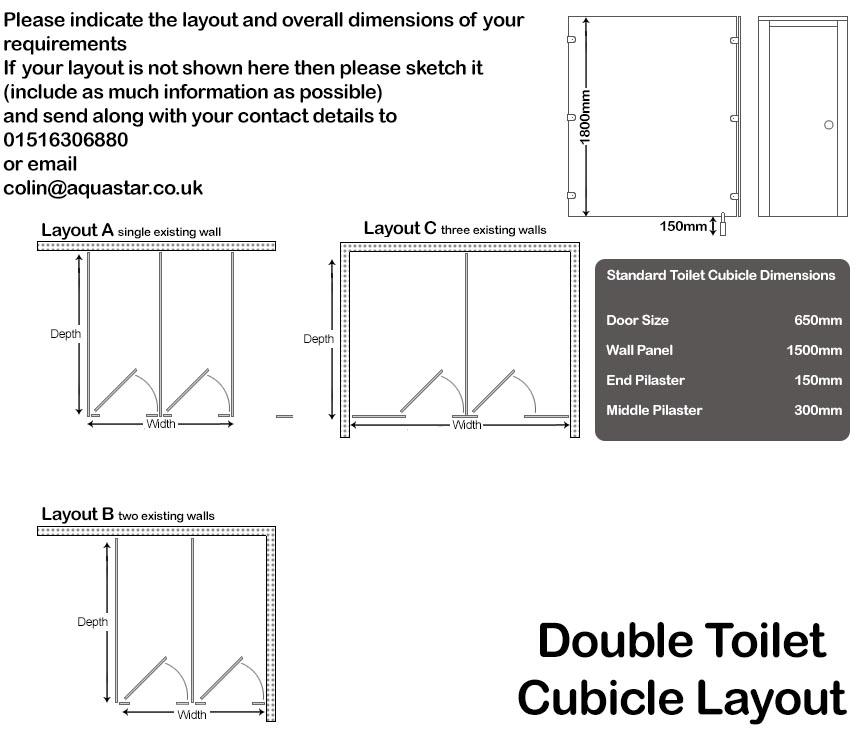 Double Toilet Cubicles