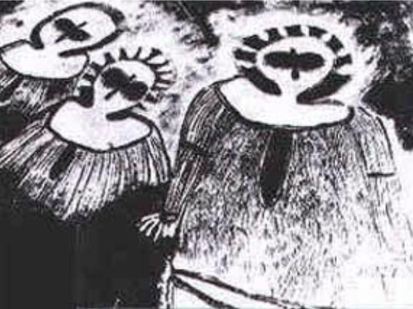 Wandjinas con halos 17000 años