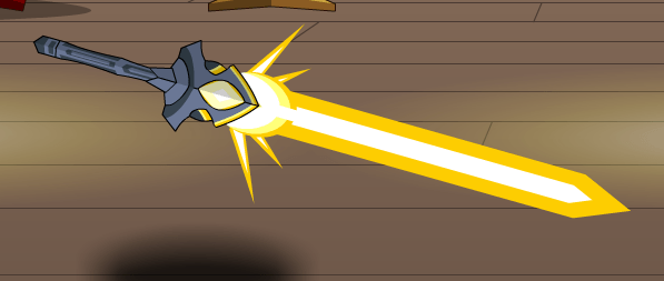 Birthday Editing Photo Classic Golden Star Sword - Aqw