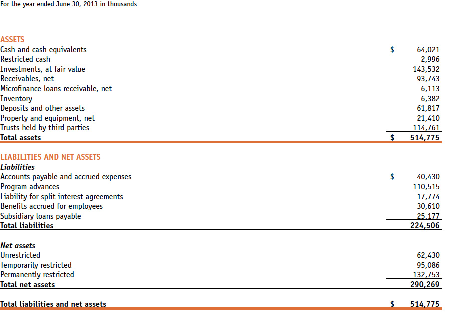 CARE USA 2013 FINANCIAL STATEMENTS