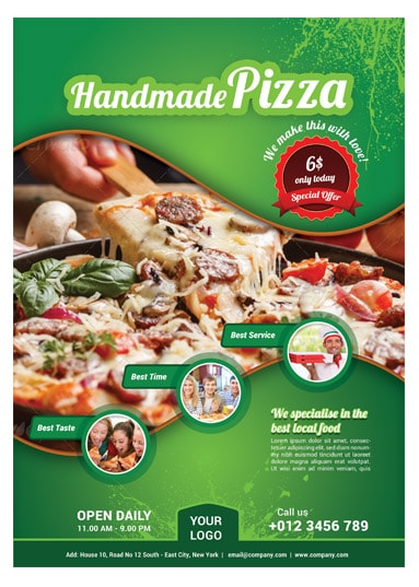 Pizza / Food Flyer Template - Arabic Vision - food flyer template