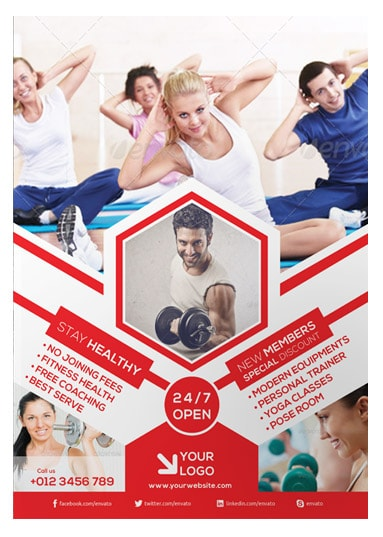 Fitness Flyer Template - Arabic Vision