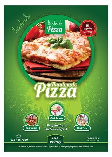Handmade Pizza / Food Flyer Template - Arabic Vision