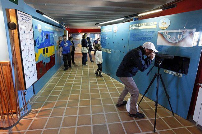 Interior del Centro de Interpretación de la RND de Gallocanta.erva.