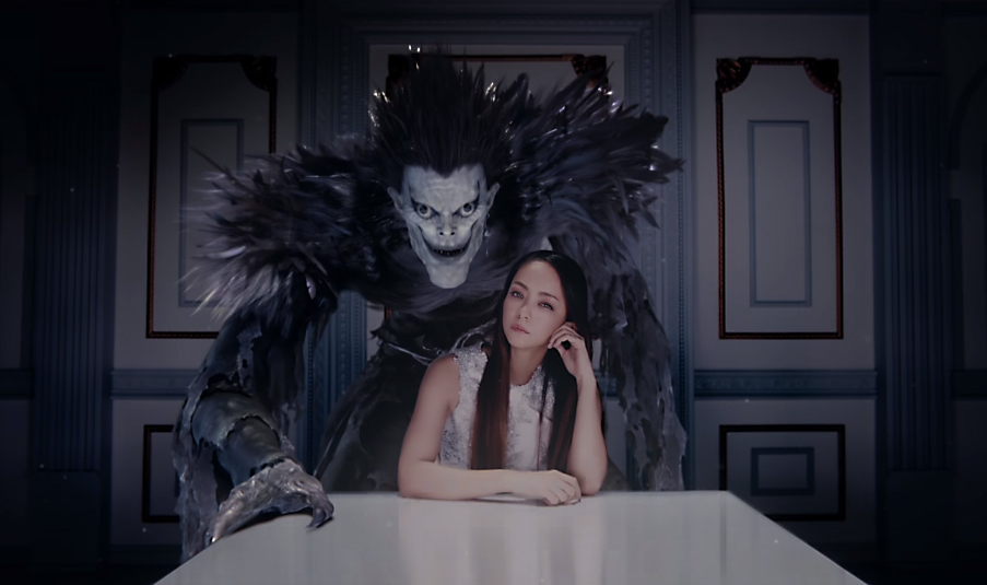 """Namie Amuro cozies up with Shinigami in """"Fighter"""" PV"""