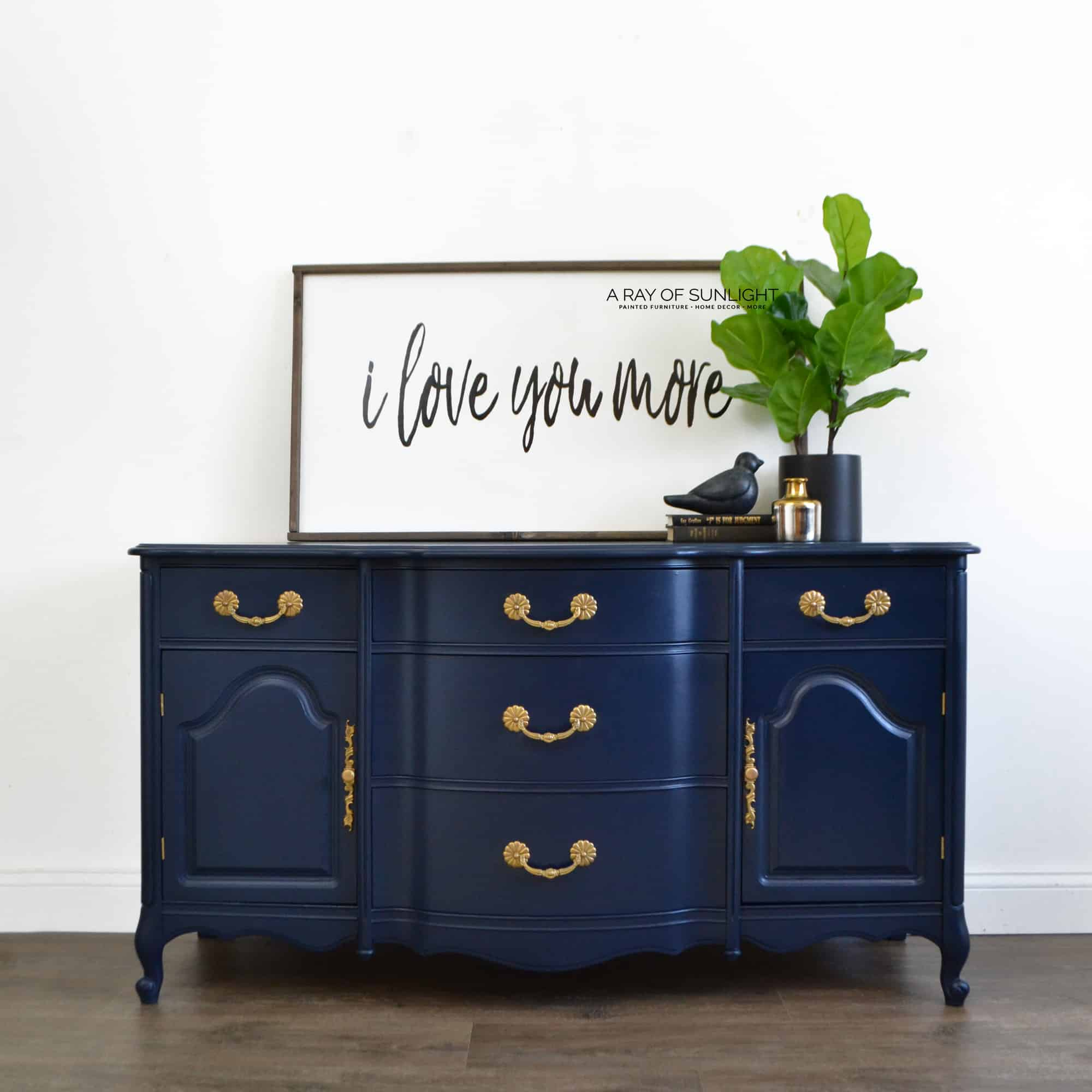 Buffet Sideboard Blue Sold The Navy Blue Buffet Free Shipping