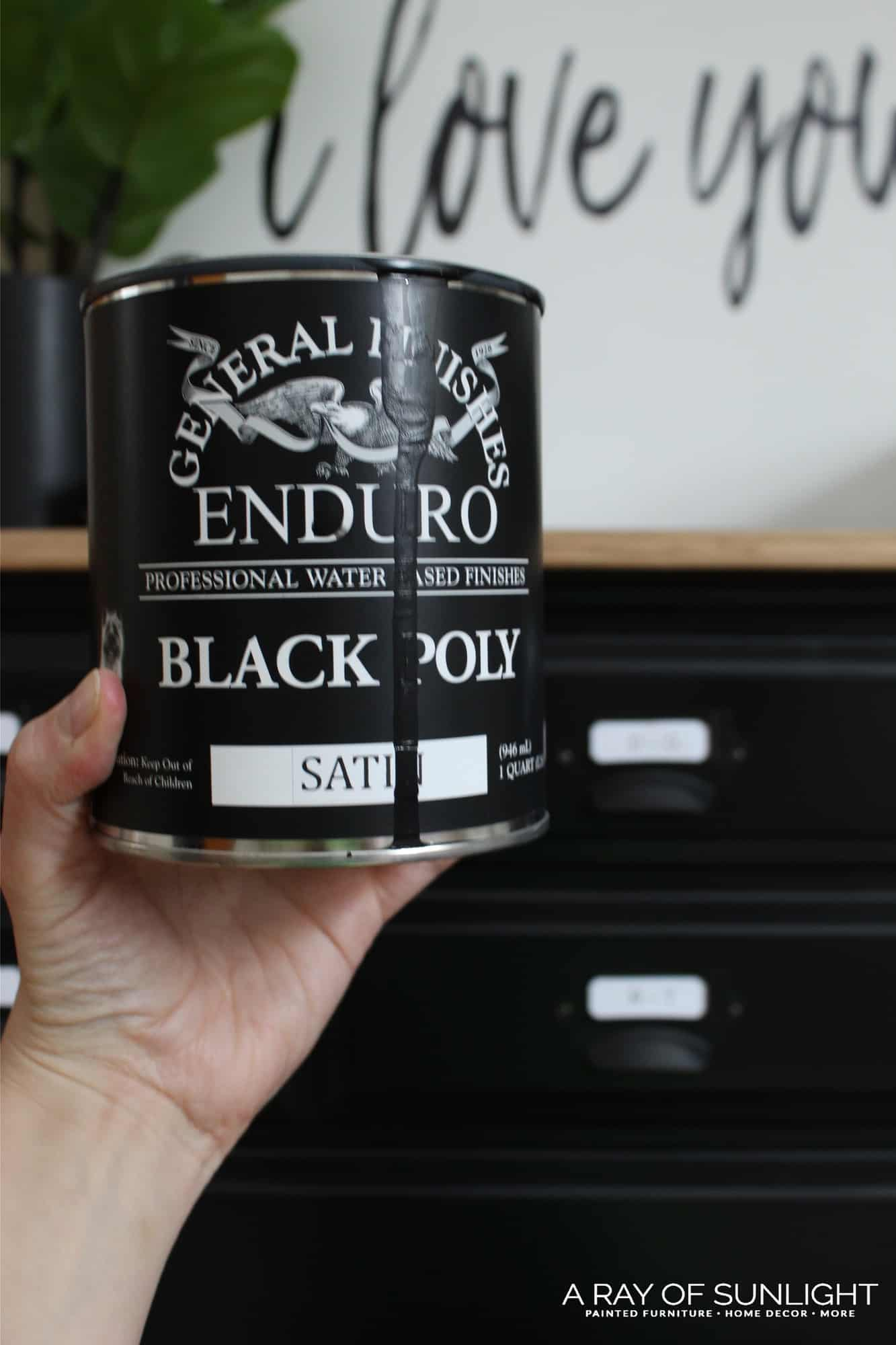 How To Easily Paint Black Furniture One Of The Hardest Colors To Get Perfect