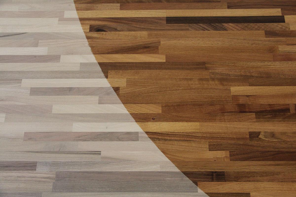 Nussbaum Arbeitsplatte Massiv Wohnwande Echtholz Gebrauch Grau