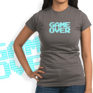 Game Over - Vintage arcade monitor graphic.