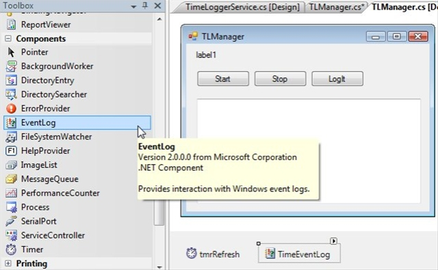 Windows Services in C# Pulling in the Event Log for your Windows