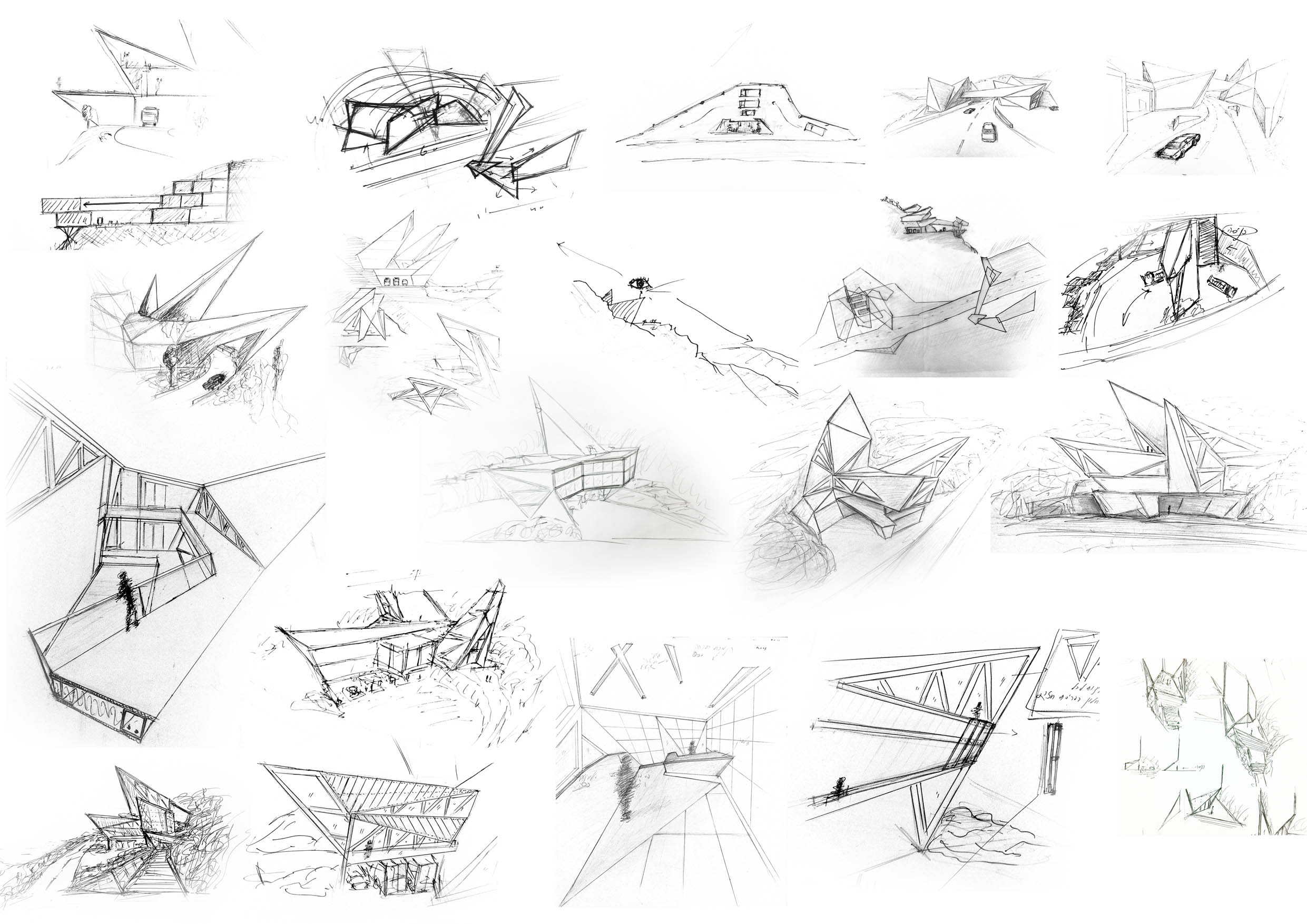 fire station and visitors site concept sketches archstudentcom