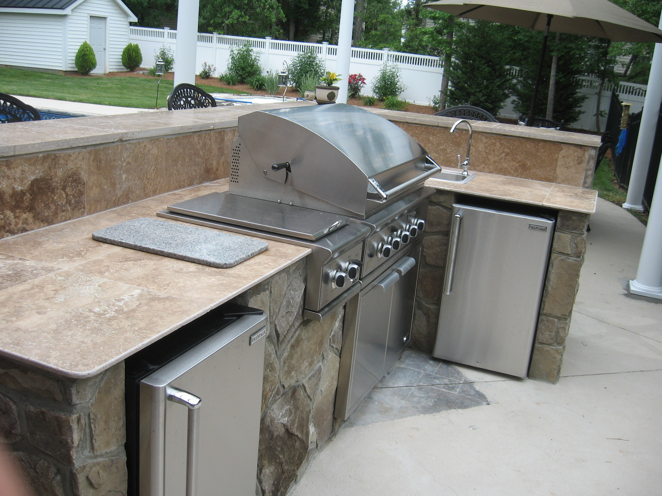 Outdoor Countertops Material Outdoor Kitchen Countertops Modern Home And House Design Ideas