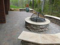 Stone wood burning Fire Pit with cover | Archadeck of ...